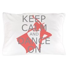 Colorguard Keep Calm and Dance On Meme Pillow Case