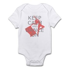Colorguard Keep Calm and Dance On Meme Infant Body