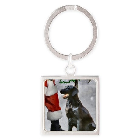 Flat-Coated Retriever Square Keychain
