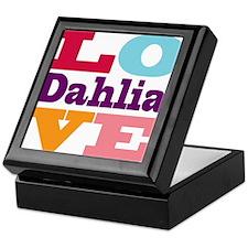 I Love Dahlia Keepsake Box