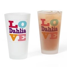 I Love Dahlia Drinking Glass