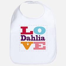 I Love Dahlia Bib