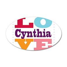 I Love Cynthia Wall Decal