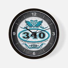 340 Engine Wall Clock