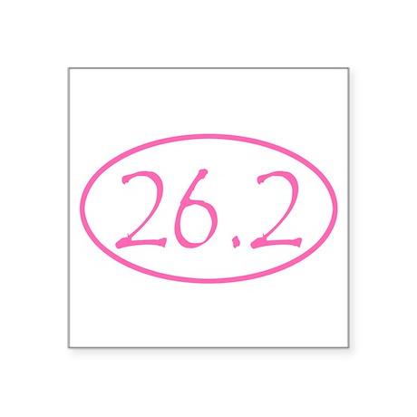 Pink Marathon Distance 26.2 Mile Sticker