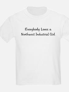 Northwest Industrial Girl Kids T-Shirt