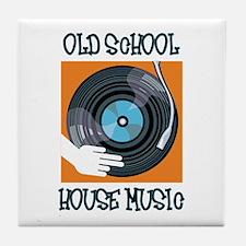 Old School House Music Tile Coaster