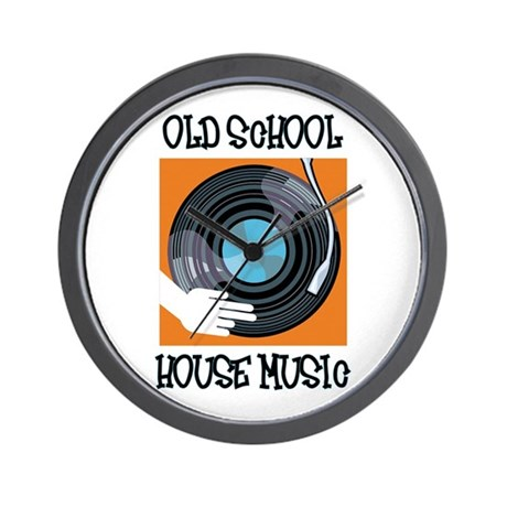 Old School House Music Wall Clock