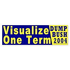 Visualize One Term Bumper Bumper Sticker