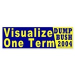 Visualize One Term Bumper Sticker