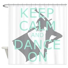 Colorguard Keep Calm and Dance On Meme Shower Curt