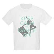 Colorguard Keep Calm and Dance On Meme T-Shirt
