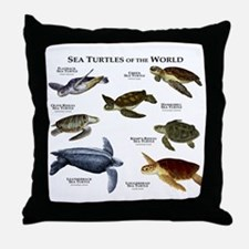 Sea Turtles of the World Throw Pillow