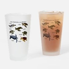 Sea Turtles of the World Drinking Glass