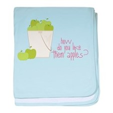 Them Apples baby blanket