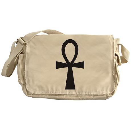 Basic Black Ankh Messenger Bag