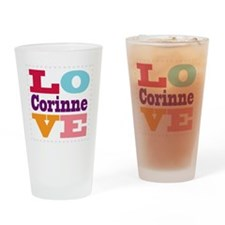 I Love Corinne Drinking Glass