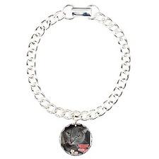 Valentine Russian Blue Gray Cat Bracelet