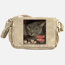 Valentine Russian Blue Gray Cat Messenger Bag