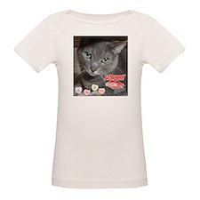 Valentine Russian Blue Gray Cat Tee
