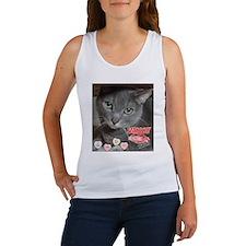 Valentine Russian Blue Gray Cat Women's Tank Top