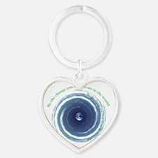 Be The Change Heart Keychain