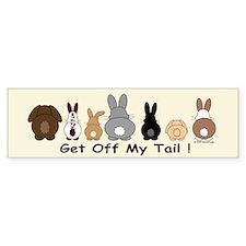 Get Off My Tail Bumper Bumper Sticker