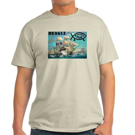 Beagle and the Footy Fish Light T-Shirt