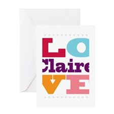 I Love Claire Greeting Card