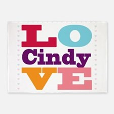 I Love Cindy 5'x7'Area Rug