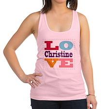 I Love Christine Racerback Tank Top