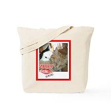 Valentine Orange Tabby Cat Tote Bag