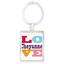 I Love Cheyanne Portrait Keychain