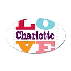 I Love Charlotte 20x12 Oval Wall Decal