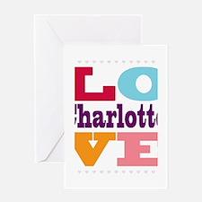 I Love Charlotte Greeting Card