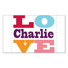 I Love Charlie Decal