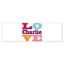 I Love Charlie Bumper Sticker