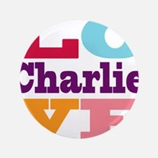 """I Love Charlie 3.5"""" Button (100 pack)"""