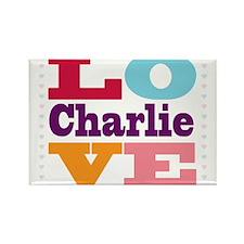 I Love Charlie Rectangle Magnet