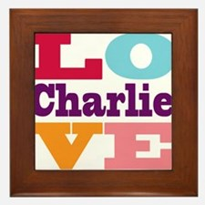 I Love Charlie Framed Tile