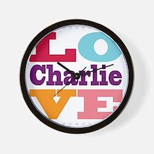 I Love Charlie Wall Clock