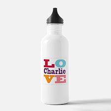 I Love Charlie Water Bottle
