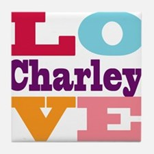 I Love Charley Tile Coaster