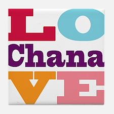 I Love Chana Tile Coaster
