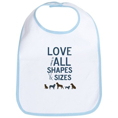 Love Comes In All Shapes & Sizes Rescue Dog Bib