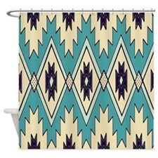 Native American Pattern Shower Curtain