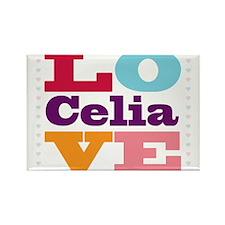I Love Celia Rectangle Magnet