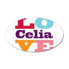 I Love Celia Wall Decal