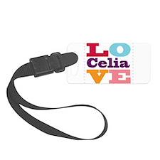 I Love Celia Luggage Tag
