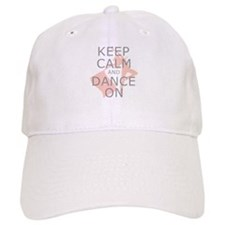 Colorguard Keep Calm and Dance On Meme Baseball Cap